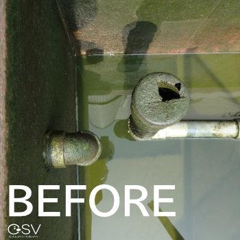高圧洗浄で汚れを落とす前